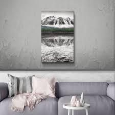 ArtWall Waterfowl lake panel II Gallery Wrapped Canvas
