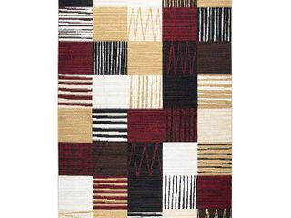 tizzy home xcite collection Black square rug 8  x 10  Retail 123 99