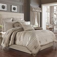 five queens court beaumont champagne Jacquard 4 pc luxury comforter set California King  Retail 348 49