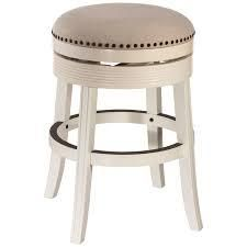 Copper Grove Curlew White Wood Backless Swivel Counter Stool   18 W x 18 l x 26 H  Retail 159 99
