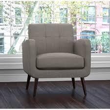 Carson Carrington Keflavik Mid century light Grey linen Armless Chair  Retail 281 49
