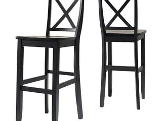 X Back Bar Stool in Black Finish 30inch height  2  Retail 193 48