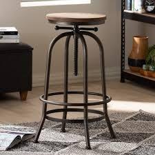 industrial rustfinish adjustable swivel bar stool by baxton studio  Retail 92 99