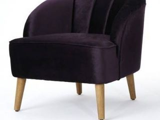 Amaia Modern Velvet Club Chair 1 only by Christopher Knight Home  Retail 373 99