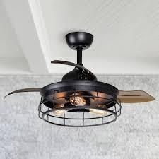 Industrial 36 inch Black 3 Blade Ceiling Fan with light Kit   36 in  Retail 169 99 black