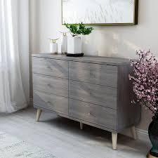 Carson Carrington Gjovik Contemporary Distressed Grey 6 drawer Dresser  Retail 348 49 grey