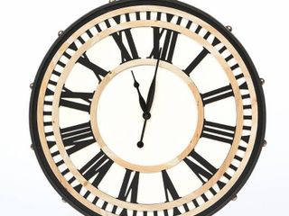 32 3in  Dia  MDF and Iron Wall Clock  Retail 98 49