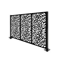 End Poles ONlY  HighlanderHome Freestanding Modular Metal Privacy Screen  4FtX 6Ft  Retail 348 49 treeleaves