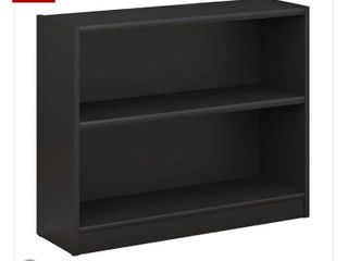 Bush Furniture Universal 2 Shelf Bookcase   Black