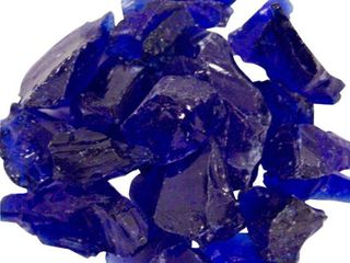 Hiland Cobalt Blue Recycled Fire Glass  10 lbs   set of 2