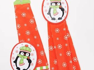 Temp tations Set of 2 Seasonal Kitchen Towel and Mitt Set