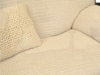 Paulato by Gaico 3 Seater Toscano Stretch Slipcover Ivory