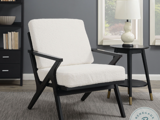 DS D153 757 White Wood Frame Armless Accent Chair   Retail  399 99