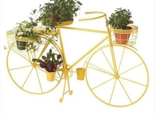 48  Metal Bicycle with Three Planter Baskets by Valerie