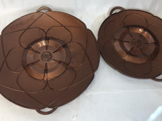 KOCHBlUME Set of 2 Spill Stoppers   Copper