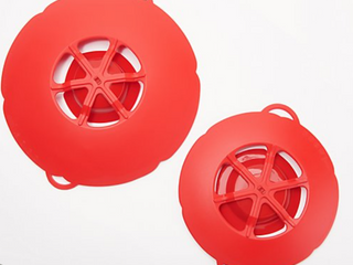 KOCHBlUME Set of 2 Spill Stoppers   Red
