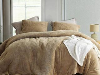 Coma Inducer Oversized Comforter   Teddy Bear   Taupe Natural  Shams not included  Retail 108 99