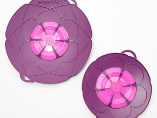 KOCHBlUME Set of 2 Spill Stoppers   Purple