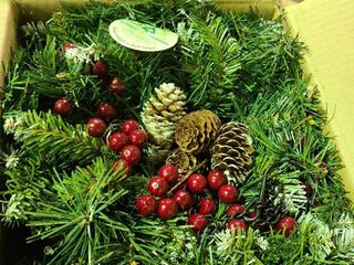 Outdoor lighted Christmas Decoration   Christmas Greenery Decorations