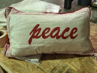 Peace Pillow Holiday