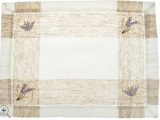 Charles Gallen Set of 4 Woven Placemats with Embroidery