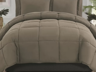Full Taupe Forestport Reversible Comforter Set