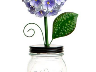 lED Hydrangea in Jar with Fairy lights