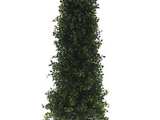 English Gardens 30  Boxwood Cone Topiary with 6  Stake