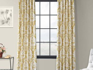 Exclusive Fabrics   Furnishings lacuna Printed Cotton Twill 50  x 96  Curtain Panel   set of 2