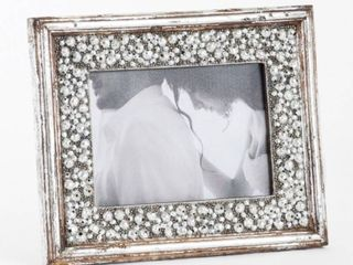 Beaded Design Photo Frame   Saro lifestyle 5 x7 set of 4