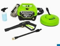 Greenworks 1800psi 1 1gpm Portable Electric Pressure Washer Kit Gpw1804tn