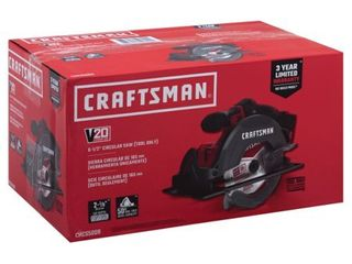 Craftsman 20V MAX 6 1 2 in  Cordless Circular Saw 4000 rpm Keyless 50 deg  Red   Case Of  1