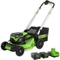 green works lawn mower pro 60 volt lithium electric 21 inch