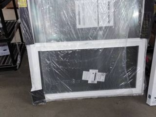 thermastar sliding window 48x48 white broken glass