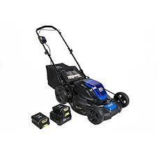 kobolt lawn mower brushles self propelled 21 inch battery 80 v max