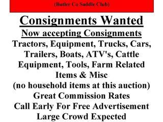 Farm, Ranch & Equipment Consignment Auction