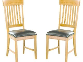 Set of 2 Chestnut Dining Height Chairs Retail 177 99