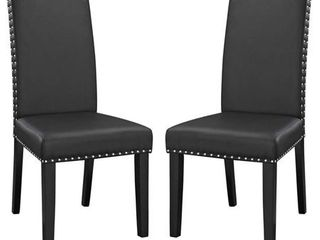 Parcel Vinyl Dining Side Chairs   Set of 2