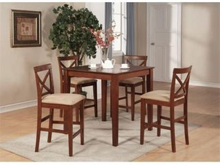 Brown Dark Brown Gathering Table  Table Top Only