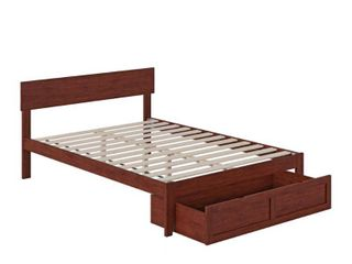 Walnut Boston Bed Foot Drawer Bed not included