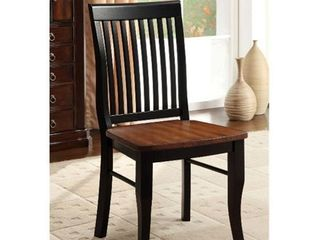 Set of 2 Antique Oak Short 16 22 in  Chairs   Retail 194 99
