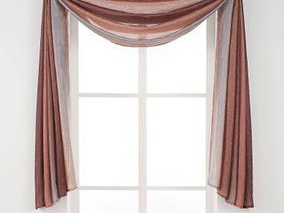 Achim Ombre Curtain Scarf