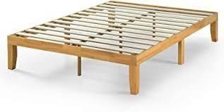 Zinus Moiz 14 Inch Wood Platform Bed   No Box Spring Needed   Twin  Natural