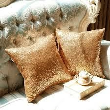 Glamour Glitter Sparkles Decorative Throw Pillow Covers   Set of 2