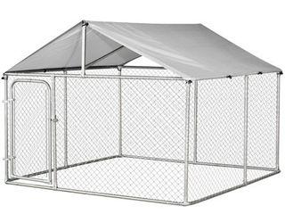 PawHut Galvanized Steel Outdoor Dog Kennel
