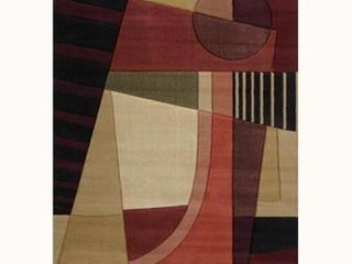 United Weavers of America Contours Collection Urban Angles Heavyweight Heatset Olefin Rug  5 Feet 3 Inch by 7 Feet 6 Inch  Green
