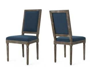 ledger Traditional Fabric Dining Chairs by Christopher Knight Home   Set of 2