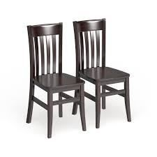 Copper Grove Wooden Seat Dining Chairs   Set of 2