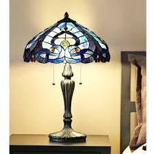 Tiffany Style Gracewood Hollow Habri Stained Glass Sea Shore Table lamps   Set of 2