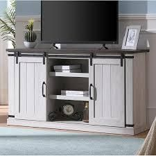 Bli Barn Door TV Stand for 60in w  Cable Management